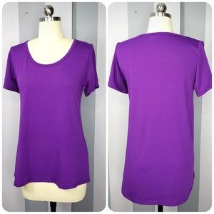 LuLaRoe S CLASSIC T - Solid Purple - Like New